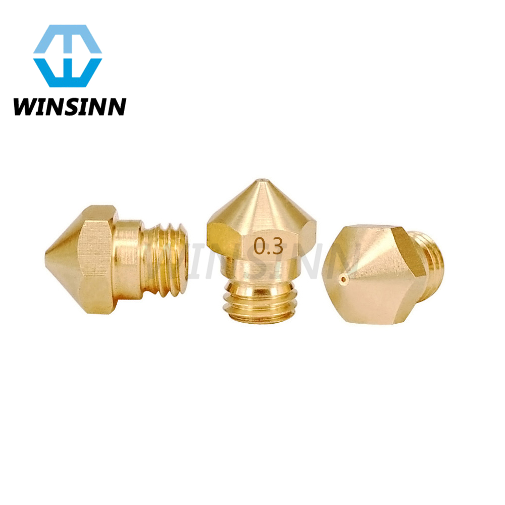 MK10 Nozzle M7 thread 0.2 0.8mm Brass For Wanhao Makerbot 2 Creator pro D4 I3 3D Printer