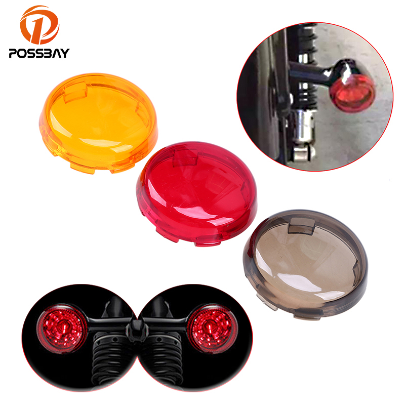 POSSBAY Motorcycle Light Turn Signal Light Cover Indicator Lens Cover for Harley Dyna 883 Sportster 1986-2015 Bike Light Covers