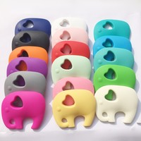 NEW Very Large Elephant Silicone Teething Chew Pendant Or Teether Necklace Pendant 10pcs