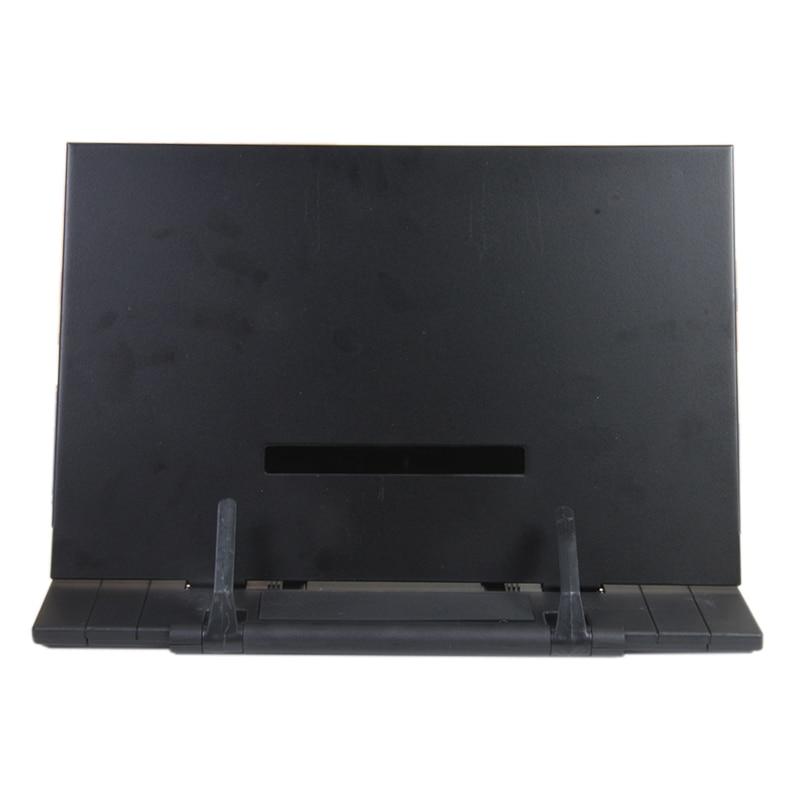 Portable Book Stand Frame Reading Desk Holder With 7 Tilt Adjustable Grooves,Black