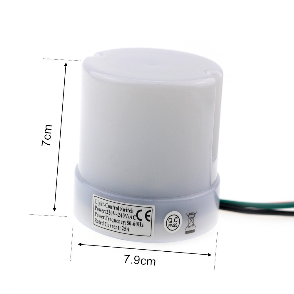 Hot Sale Brand New 25a Dusk Till Dawn Automatic Photocell Light Switch Electronic Design Rc0114all2 Rc0114all3 Rc0114all4 Rc0114all6