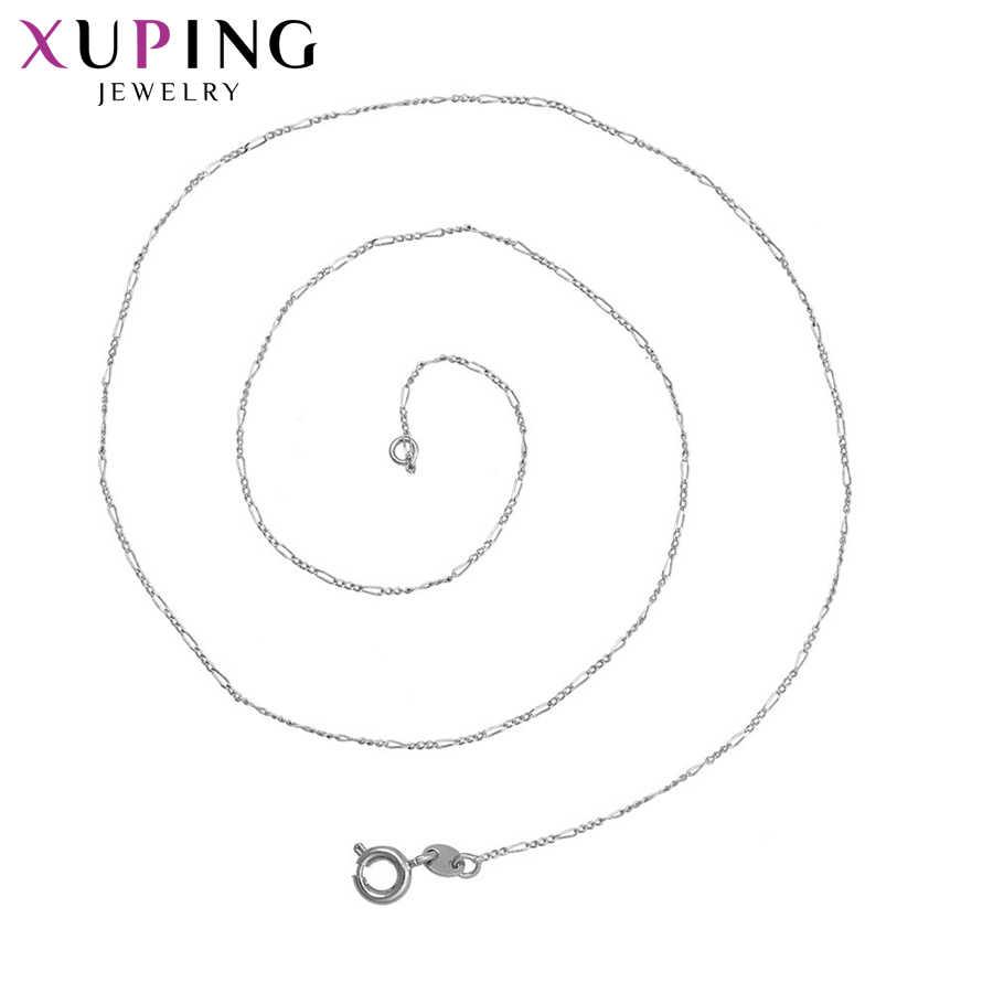 Xuping 優雅な気質の女性人気のデザインネックレスチャームスタイルロングネックレスクリスマスジュエリーギフト S74 、 5-43920