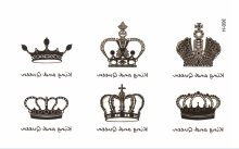 hot sale crown Temporary Tattoo tatoos simulation alphabetical waterproof men and women tattoo stickers to cover scar tattoo(China)