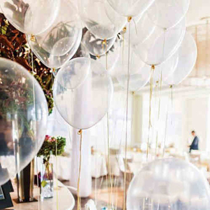 Image 1 - 20 pc/lot 2.2g 12 inch clear balloons ,transparent balloon, wedding/party/brithday decoration