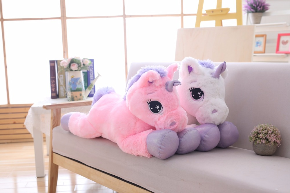 big stuffed unicorn toy