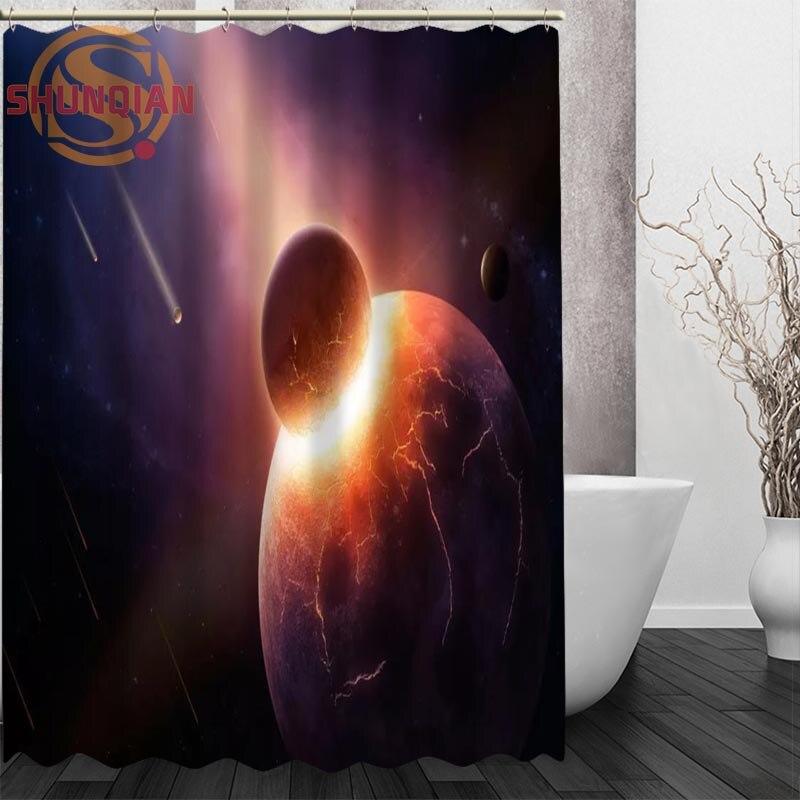 meteor Starlight galaxy Shower Curtain Eco-friendly Modern Fabric polyester Custom Bath Curtains Home Decor Curtains for bath