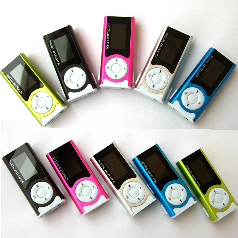 Hifi Player Shiny Mini USB Clip LCD Screen MP3 Media Player Support 16GB Micro SD Fashion sports mp3 @Z