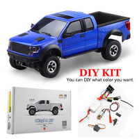 RC Car DIY Model Kit with Transmitter and Motor Receiver Charger Compatible with Orlandoo 1:35 F150 Crawler Full DIY Model