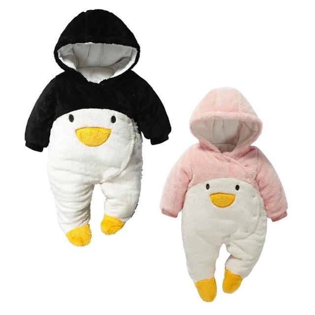 Новорожденный ребенок зимние комбинезоны стеганые обивка детская одежда вниз пальто снег носить теплые куртки комбинезоны малышей мальчики девушка одежда