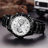 Curren quartz Black  Vogue Business Military Man Men's watches 3ATM waterproof Dropship 8020 Relogio 1