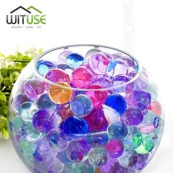 77409e987 5000 piezas forma de perlas de cristal del suelo de barro de hidrogel Gel  crecimiento del Orbiz bolas de agua perlas decoración del hogar