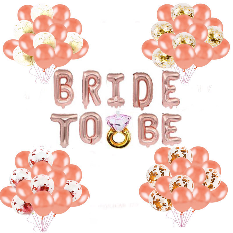 BRIDE TO BE Foil Balloons Bachelorette Hens Party Bridal Shower Decorations