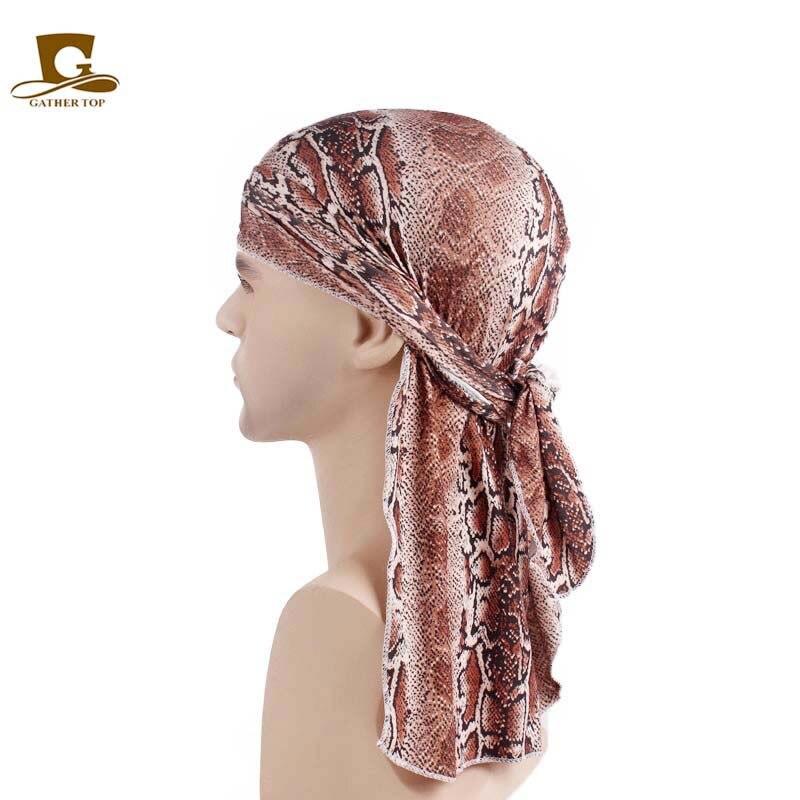 New Unisex Doo Rag Skull Cap Women Men Pattern Durag Bandana Chemo Head Wrap Turban King's Biker   Headwear   Hair accessories