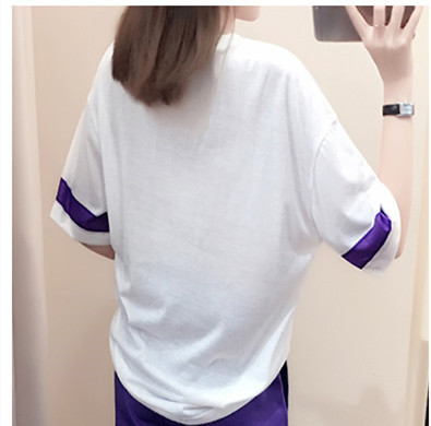 Mr nut summer new sports suit female 2019 Korean version of loose fashion half sleeve trousers casual two piece in Women 39 s Sets from Women 39 s Clothing