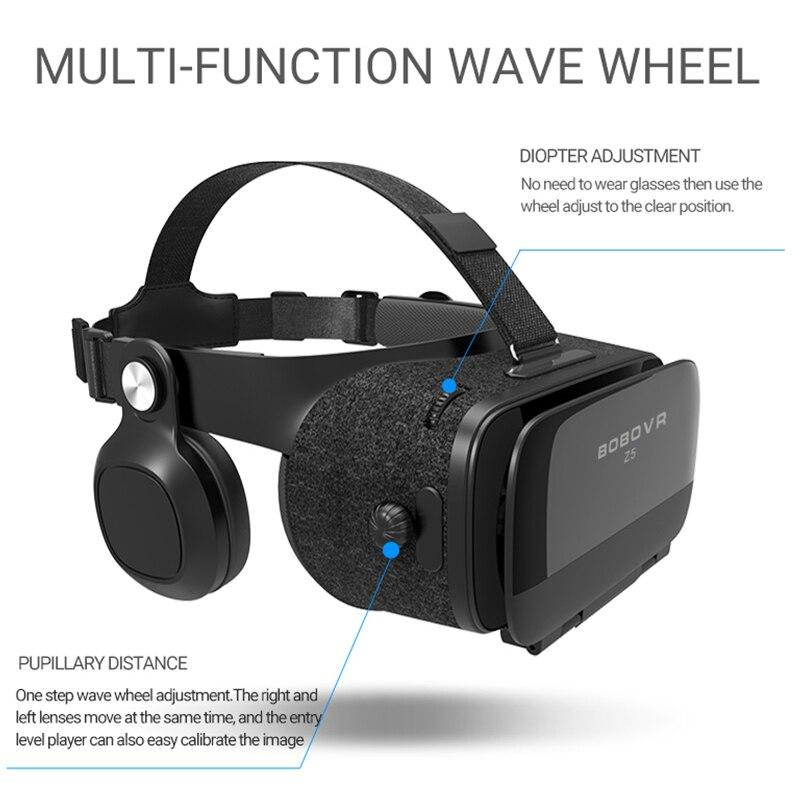 D'origine bobovr Z5/bobo vr Z5 lunettes de réalité virtuelle 120 FOV 3D lunettes google carton avec casque stéréo boîte pour smartphone-in 3D Lunettes/Lunettes de Réalité Virtuelle from Electronique    3