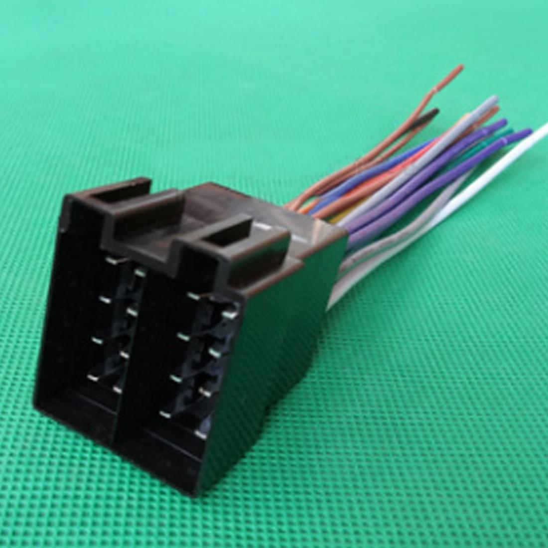 small resolution of dewtreetali universal female iso radio wire wiring harness adapter connector car adaptor plug for vw citroen audi passat jetta wholesale radio wires iso