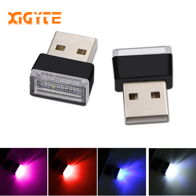 Car USB LED Atmosphere Lights Decorative Lamp Emergency Lighting Universal PC Portable Plug and Play Red/Blue/White Car styling