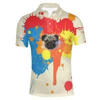 Chemise Homme Funny Husky Pug Dog Print Shirt for Men Comfort Breath Male Top Tees Casual Teens Boys Turn down Collar 2019 XXXL