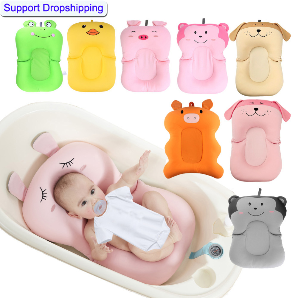 Newborn Safety Security Bath Seat Infant Baby Bath Pad Non-Slip Bathtub Baby Shower Portable Air Cushion Bed Babies Mat Support