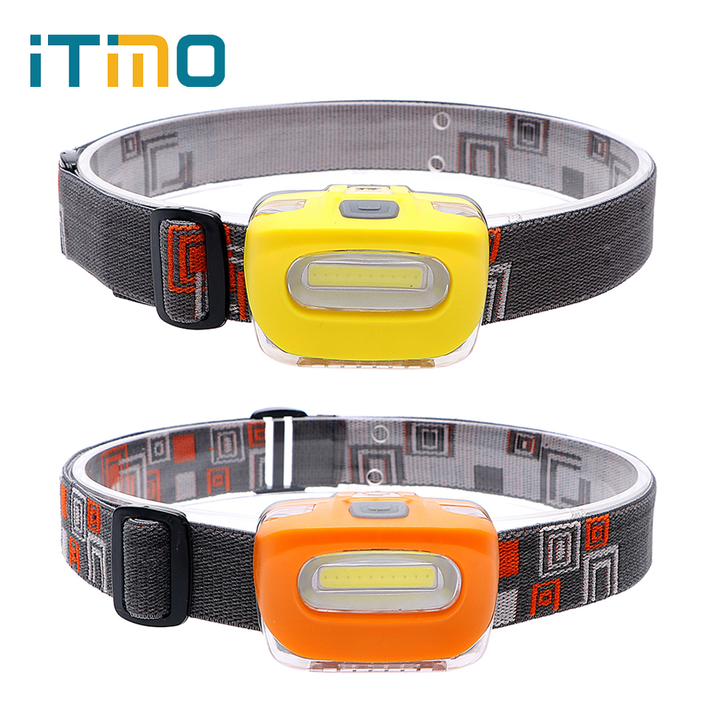 iTimo LED Headlight for Outdoor Activities Cycling Hunting Fishing Emergency Light Headlamps 2 Modes Spotlight Portable Lighting