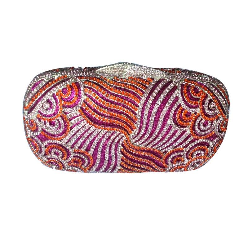 Luxury Paisley Clutch Bling Rhinestone Clutch Hard Case Clutch Purse bling koi fish purse luxury rhinestone