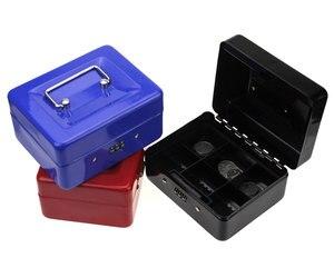 Image 1 - נירוסטה פטי כסף מזומן תיבת קופאית מנעול תיבת סיסמא בטוח קטן הבית 152*118*80 MM