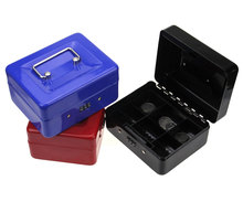 Stainless Steel Petty Cash Money Box Cashier Lock Box Password Safe Small Fit For Home 152*118*80MM