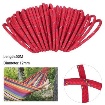 Professional Открытый 12 мм диаметр спасательная веревка шнур 50 м для гамак применение на лодка пеший туризм кемпинг выживания комплект