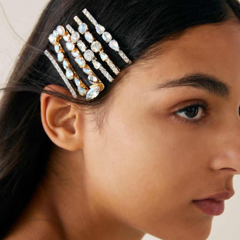JURAN נשים ריינסטון הניצוץ שיער קליפ ZA מכבנת כובעים לנשים שקופיות אוחז סיכת שיער סיכת שיער אביזרי עבור בנות