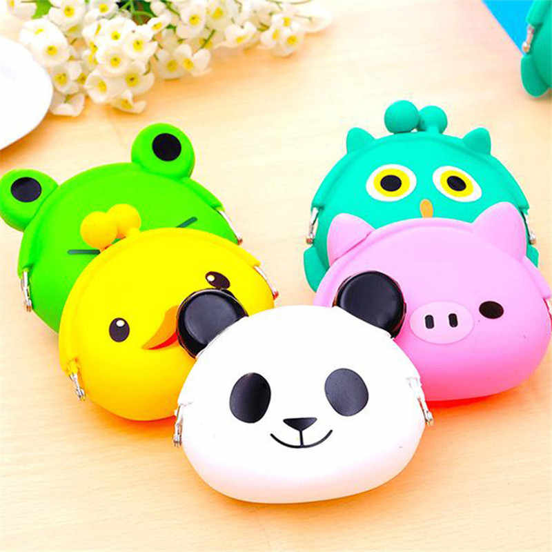 2019 New Coin Purse Mini Silicone Animal Small Coin Purse Lady Key Bag Purse Children Gift Prize Package