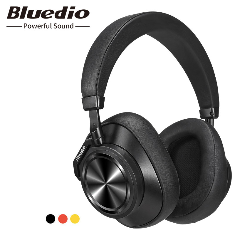 Bluedio T6 Bluetooth Headphones Active Noise Cancelling Wireless Headset for phones and music with voice control