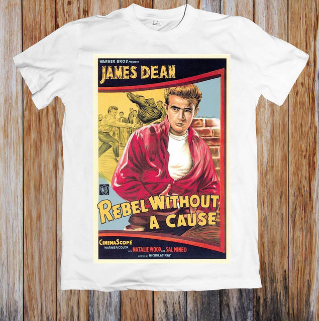 5ac14a6c1 REBEL WITHOUT A CAUSE 1950 s RETRO VINTAGE MOVIE POSTER UNISEX T-SHIRT