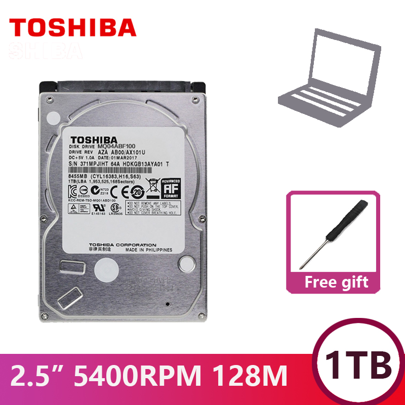 "TOSHIBA Laptop Hard Drive Disk 1000G 1T Internal HDD HD 2.5"" 5400 RPM  128M Cache 7mm SATA3 MQ04ABF100 Original for Notebook-in Internal Hard Drives from Computer & Office    1"