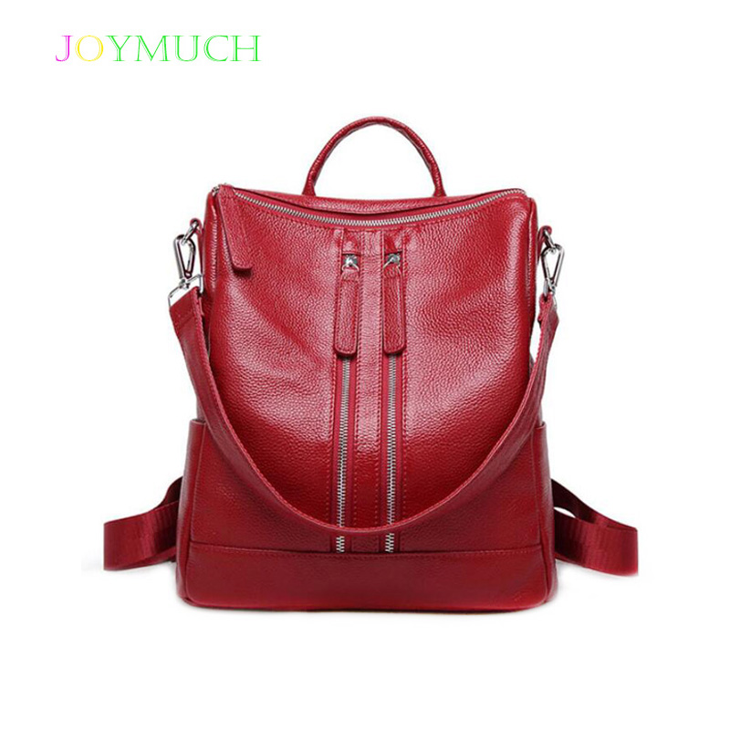 The first layer of cowhide ladies backpack leather 2018 Winter new simple female bag leisure business female backpackThe first layer of cowhide ladies backpack leather 2018 Winter new simple female bag leisure business female backpack