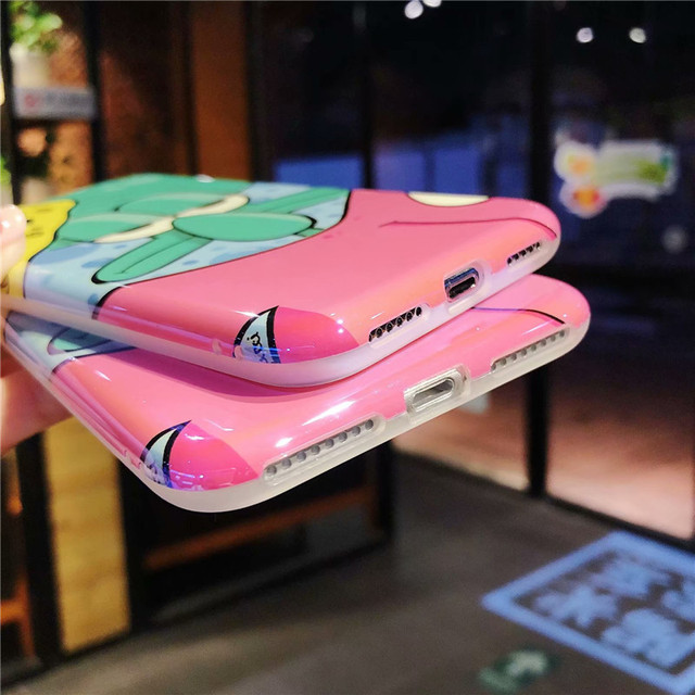 GYKZ 360 Degree Full Body Protective Phone Case For iPhone X 7 XS MAX XR 8 6 6s SpongeBob Squidward Tentacles Soft Back Cover
