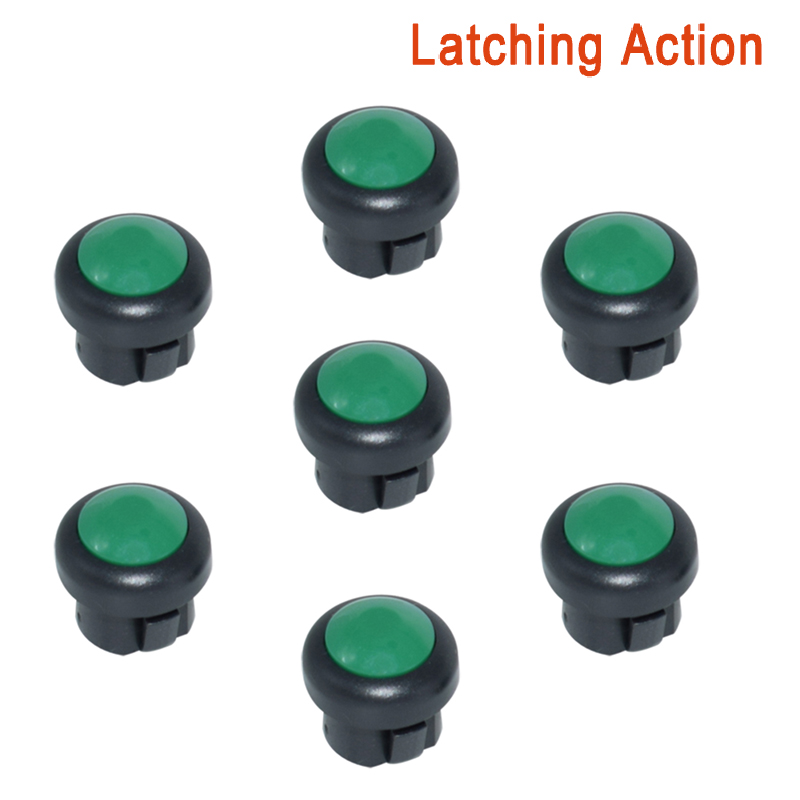 7 x кнопка включения мотоцикла сигнал поворота Высокий Низкий Луч Электрический старт Kill ON OFF кнопки мгновенного действия с фиксацией - Цвет: Green A