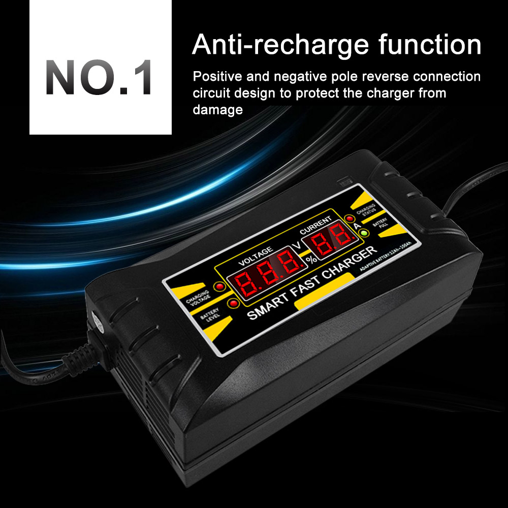 Car Battery Charger 12v 6a 10a Full Automatic Auto Smart Power Circuit Design Charging For Wet Dry Lead