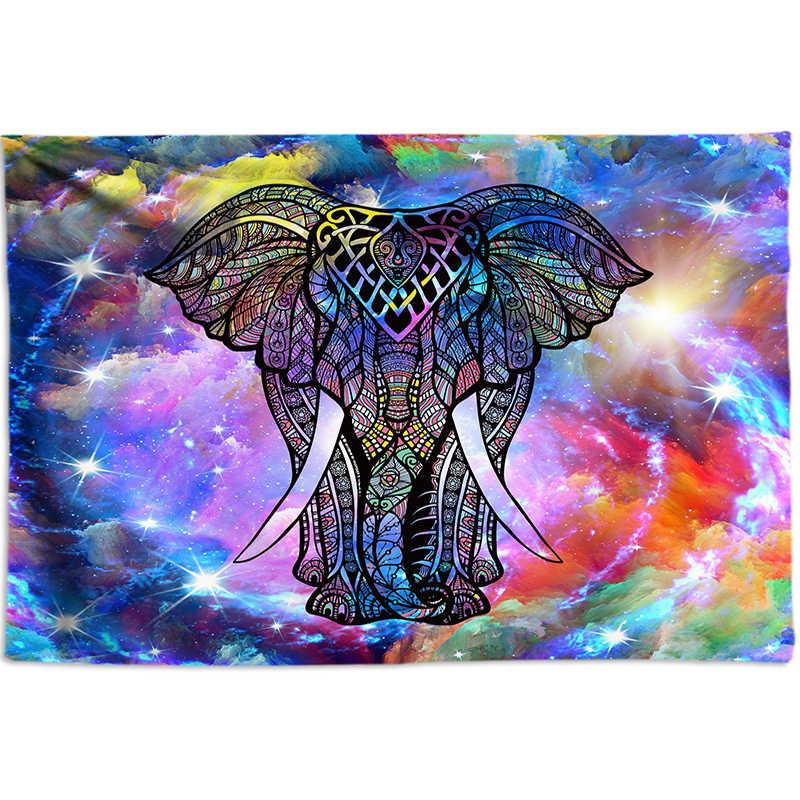 Богемное украшение, гобелен с изображением слона, большой настенный гобелен с 3D изображением животных, психоделические настенные гобелены, коврик для йоги, большой размер, настенные художественные плакаты, фотографии