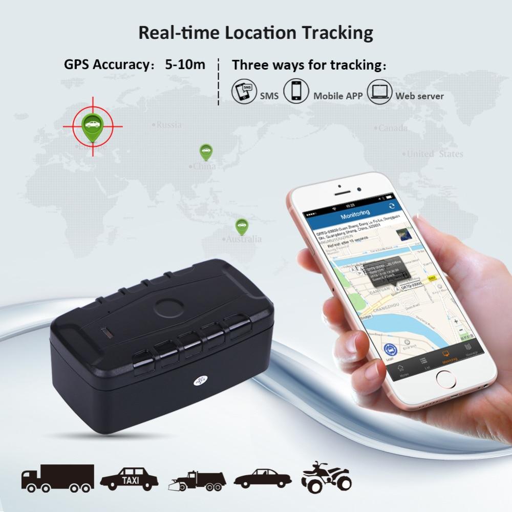 GPS Tracker Auto LK209C 20000mAh 240 Giorni In Standby Impermeabile Inseguitore Del Veicolo Dei GPS Dispositivo di Tracciamento Locator Magneti di Goccia Allarme di Scossa - 6