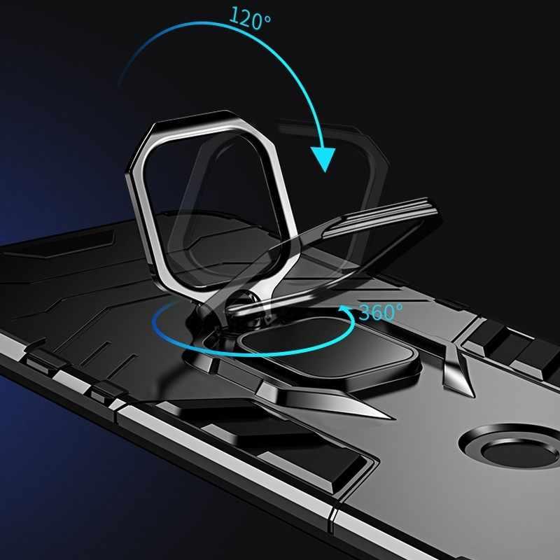 Ốp Lưng điện thoại Xiaomi Redmi Note 7 Mặt Sau + Ốp Lưng TPU Nhẫn Đứng Ô Tô Bảo Vệ Ốp Lưng phụ Kiện Điện Thoại