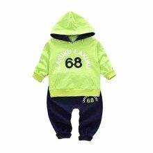 цена на 2020 Spring Autumn Baby Clothing Children Boys Girls Fashion Clothes Kids Hooded Sweatshirt Pants 2Pcs/Sets Toddler Tracksuit