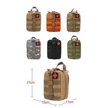 Outdoor Waterproof Travel First Aid Kits Oxford Cloth Tactical Waist Pack Camping Climbing Bag Black Emergency Case