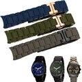 Aotu correa de accesorios de la venda de reloj para armani ar5890 ar 5905 5906 5919 5920 de Acero Inoxidable Correa de Reloj de Goma + Free herramientas