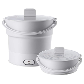 electric portable folding hotpot skillet kettle cooker and heated food container