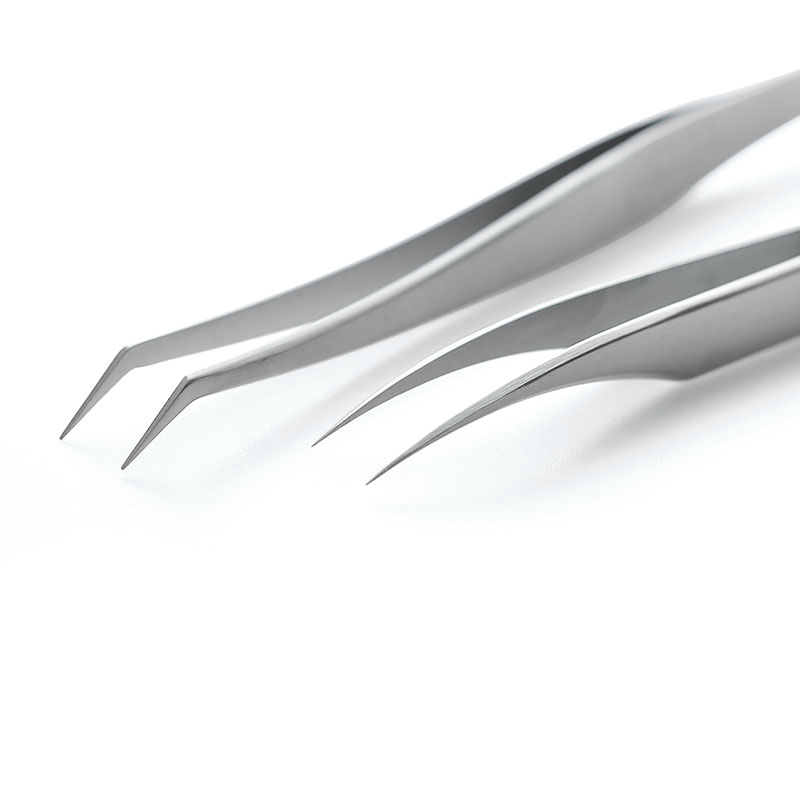 Image 2 - 100% Ultra Precision Stainless Steel Eyelash Tweezers for Eyelash Extension Anti Acid ESD Anti static Eyelash Extension Tools-in False Eyelashes from Beauty & Health