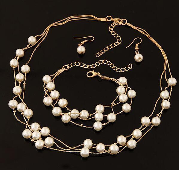 Imitation Pearl Jewelry Set...