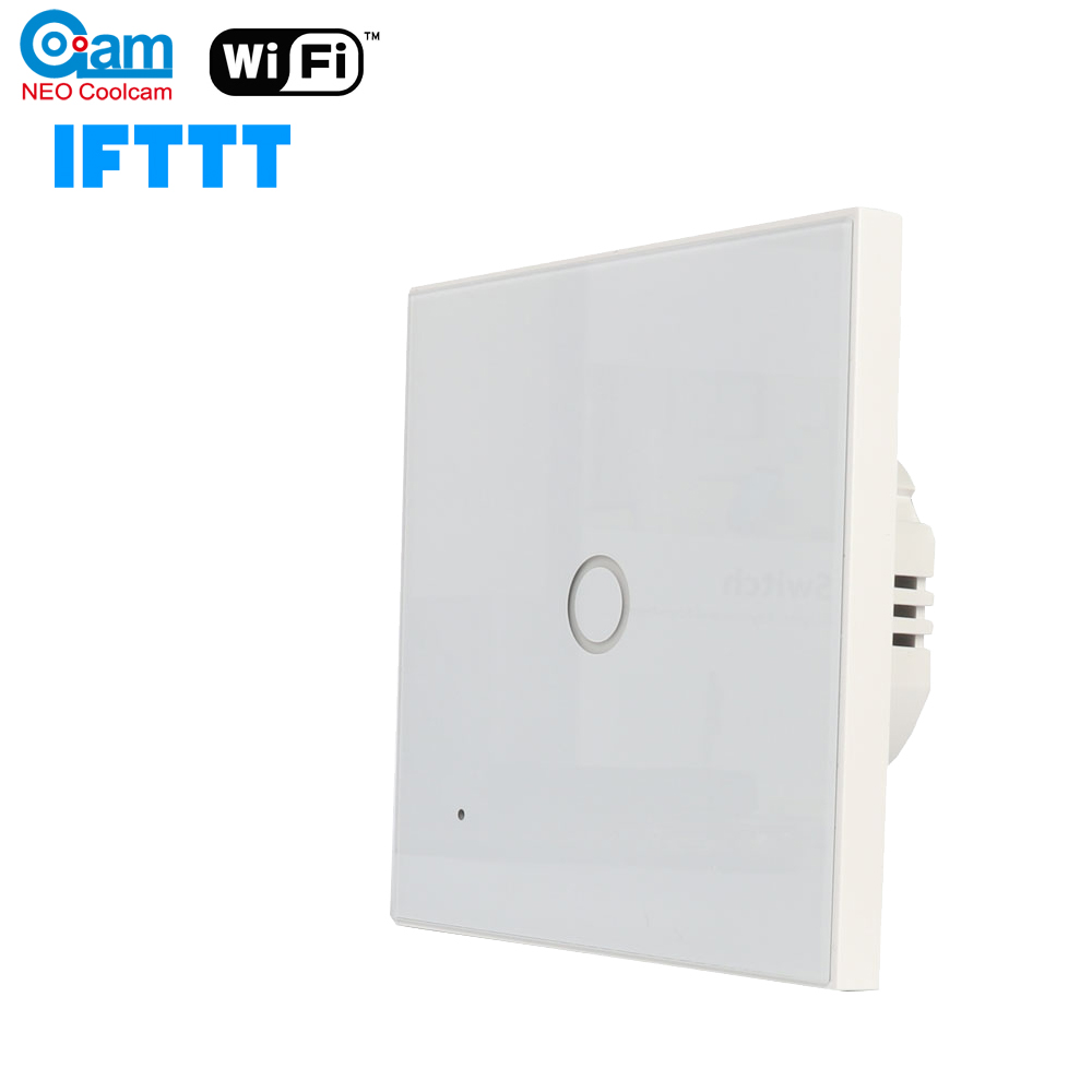 NEO Coolcam Wifi 1CH Wall Wifi Light Switch Glass Panel Touch LED Lights Switch For Smart Home Wireless Remote Switch Control