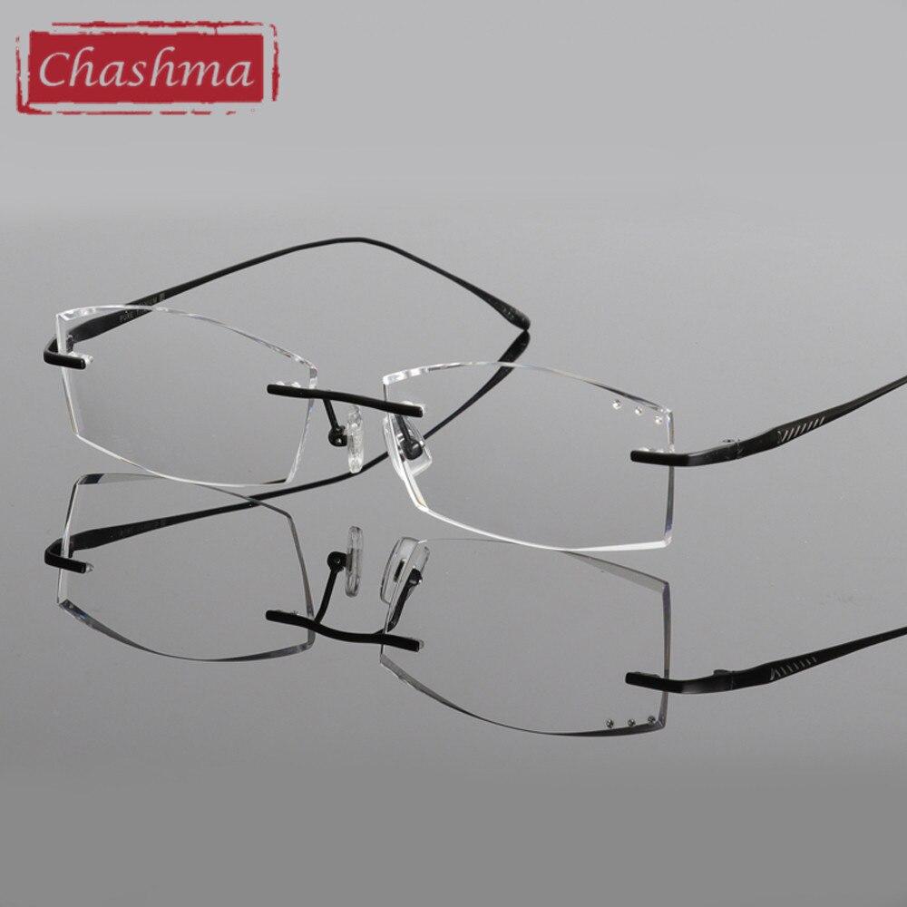 Chashma Blagovne znamke Titanium Modna moška očala Diamant obrezana - Oblačilni dodatki - Fotografija 6