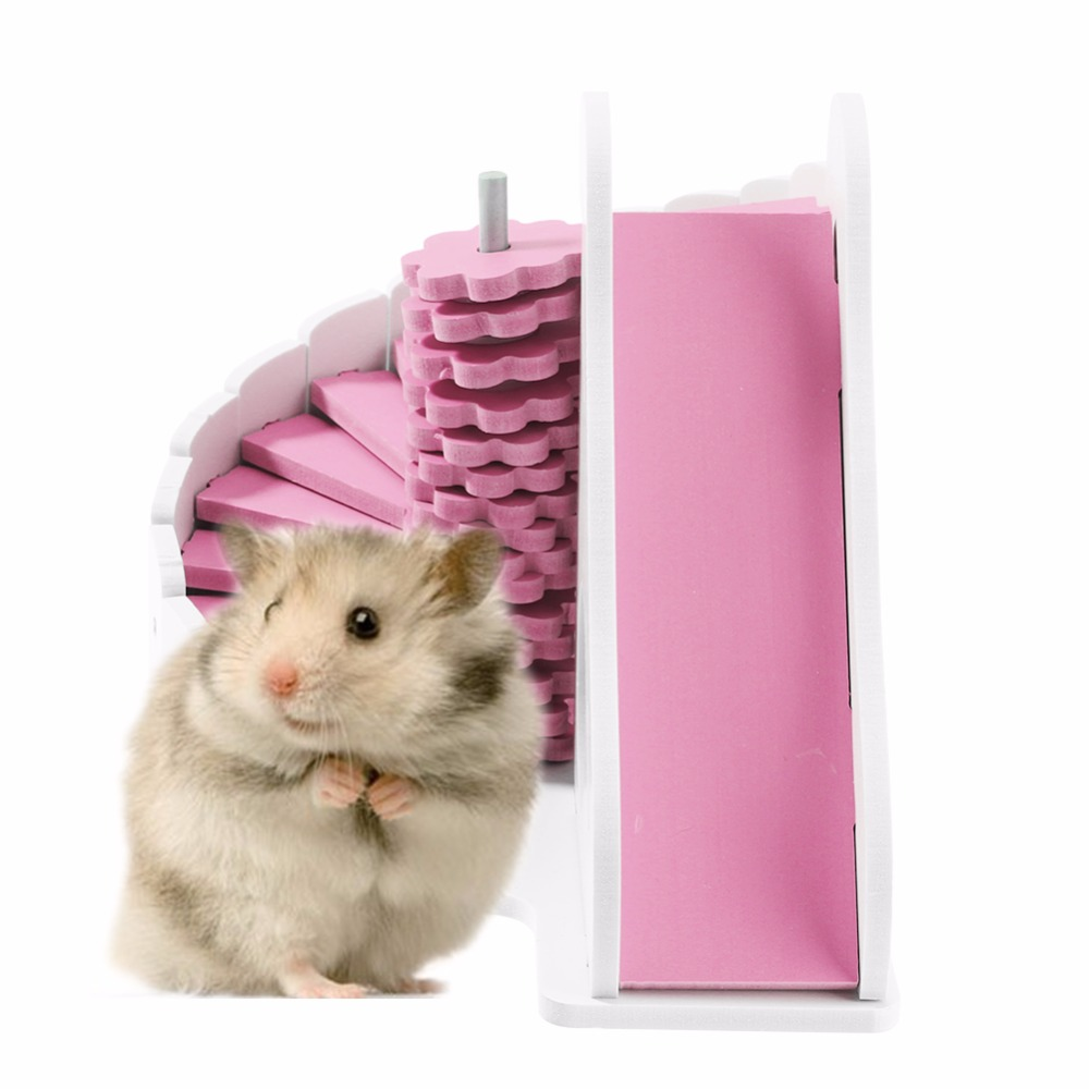 Ecological Cute Hamster House Cages For Rat Mouse  Funny Hamster Nest Net Ecological Double-deck Ladder Villa Colorful Bed House #2