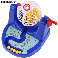 OCDAY Funny Mini Bingo Game Kids Baby Toys Classic Gambling Family Interactive Bingo Card Ball Chip